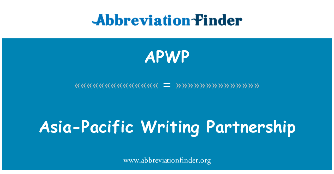 APWP: Asia-Pacific Writing Partnership