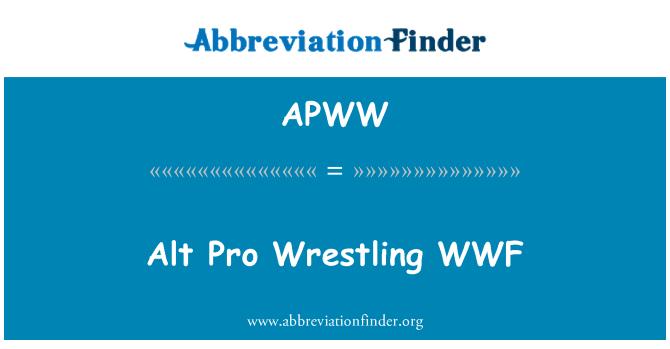 APWW: Alt Pro Wrestling WWF