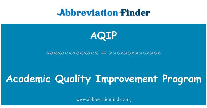AQIP: Academic Quality Improvement Program
