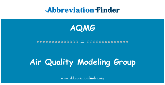 AQMG: Air Quality Modeling Group