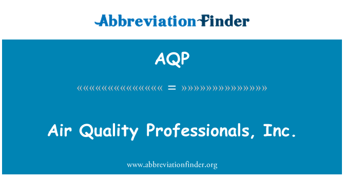 AQP: Air Quality Professionals, Inc.