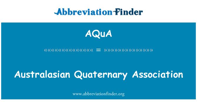 AQuA: Asociación cuaternario Australasia