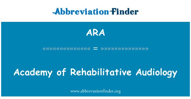 ARA: Academy of Rehabilitative Audiology
