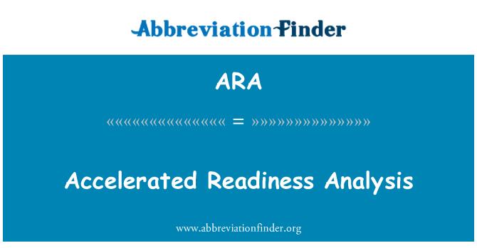 ARA: Accelerated Readiness Analysis