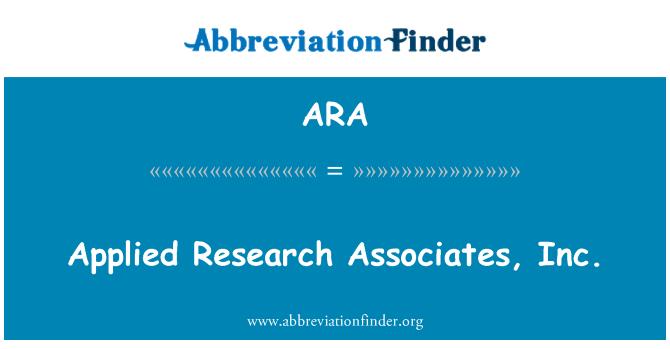 ARA: Applied Research Associates, Inc.