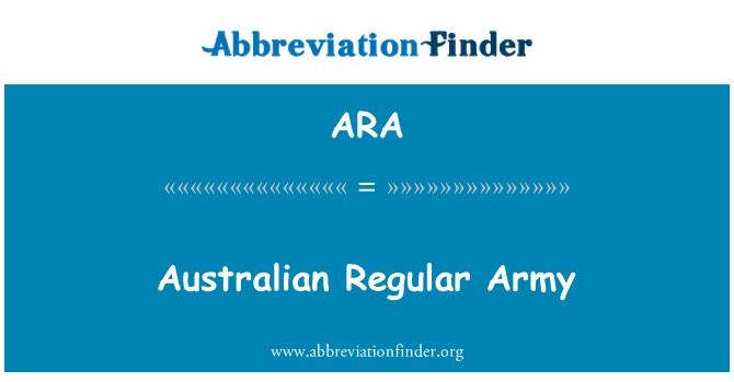 ARA: Australian Regular Army