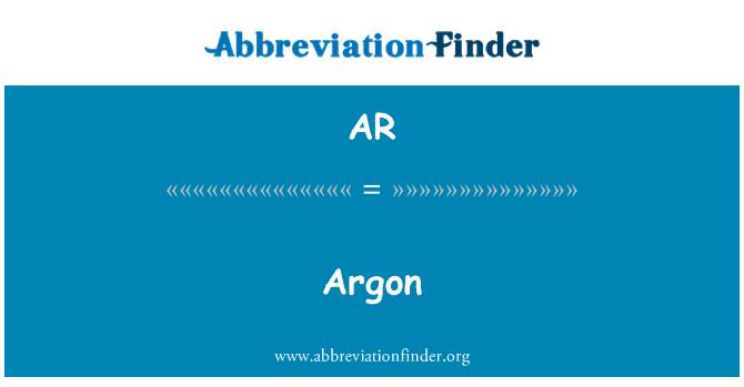 AR: Argoon