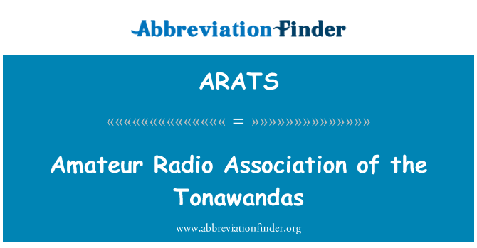 ARATS: Amateur Radio Association of the Tonawandas