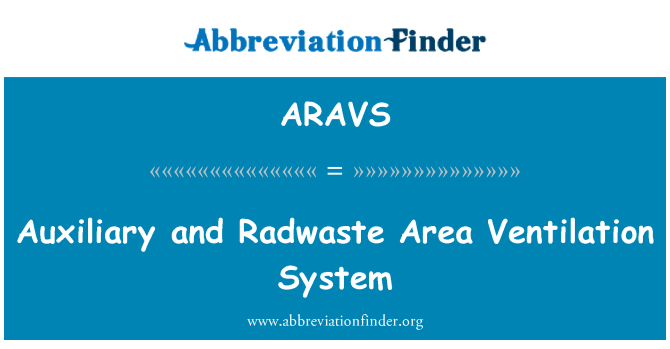 ARAVS: Auxiliary and Radwaste Area Ventilation System
