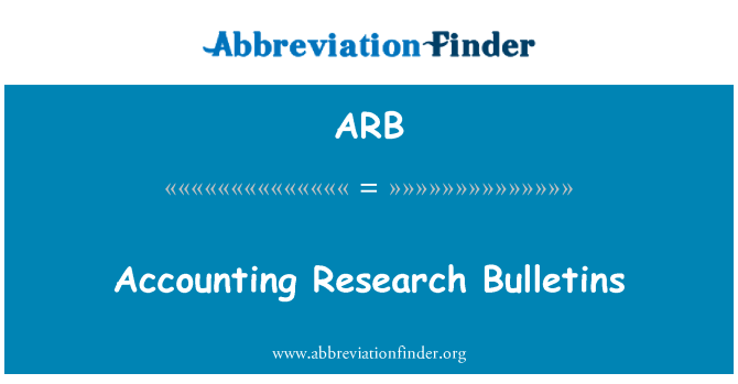 ARB: Accounting Research Bulletins