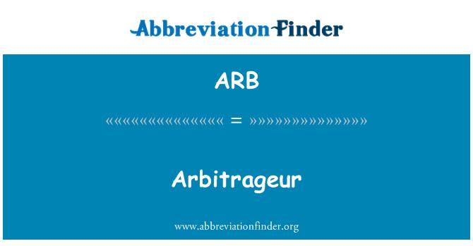 ARB: Arbitrageur
