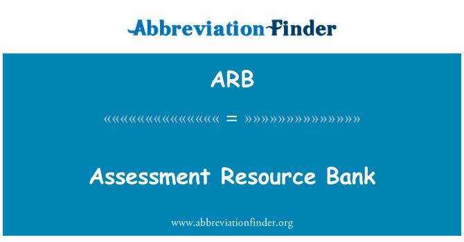 ARB: Assessment Resource Bank