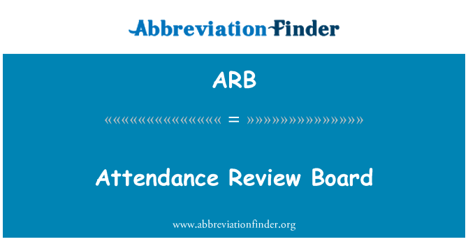 ARB: Attendance Review Board