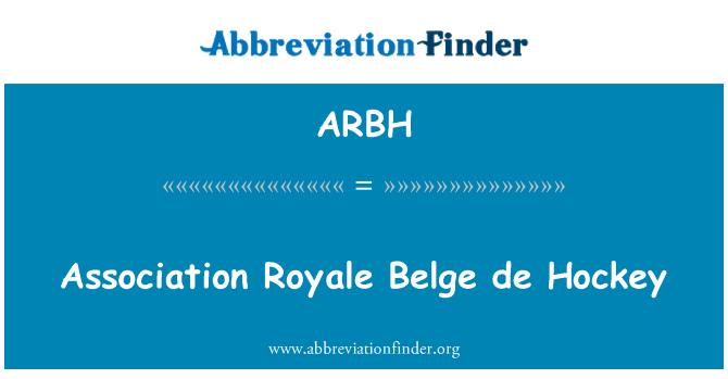 ARBH: Association Royale Belge de Hockey