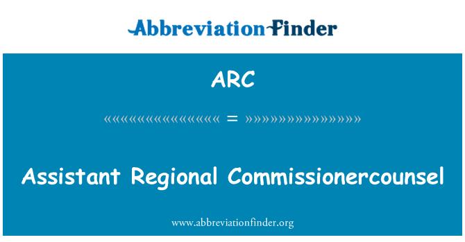 ARC: Penolong Commissionercounsel serantau