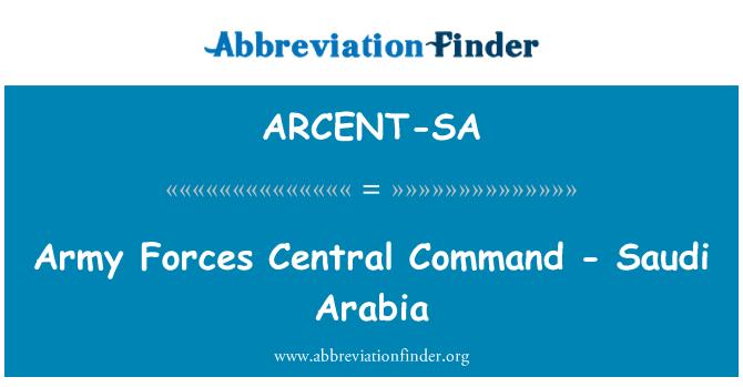 ARCENT-SA: Army Forces Central Command - Saudi Arabia