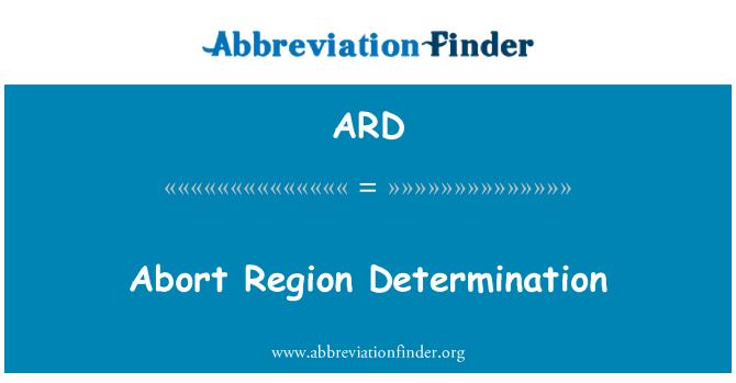ARD: Abort Region Determination