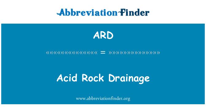 ARD: Acid Rock Drainage