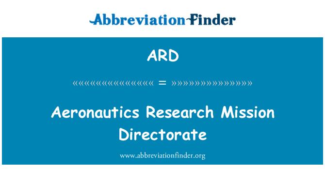 ARD: Aeronautics Research Mission Directorate