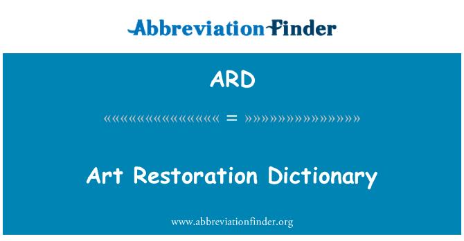 ARD: Art Restoration Dictionary