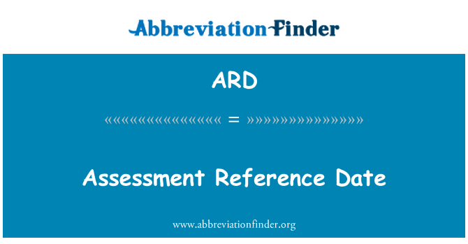 ARD: Assessment Reference Date
