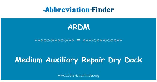 ARDM: Dique seco medio auxiliar reparación