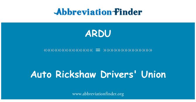 ARDU: خودکار استفاده رانندگان