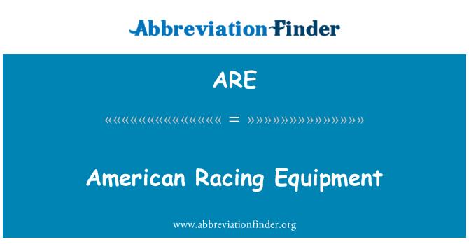 ARE: Equipo de carreras americano