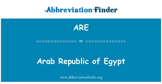 ARE: República Árabe de Egipto