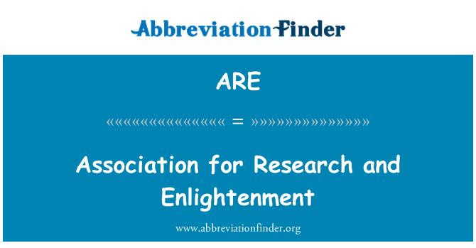 ARE: Asociación para la investigación y la iluminación