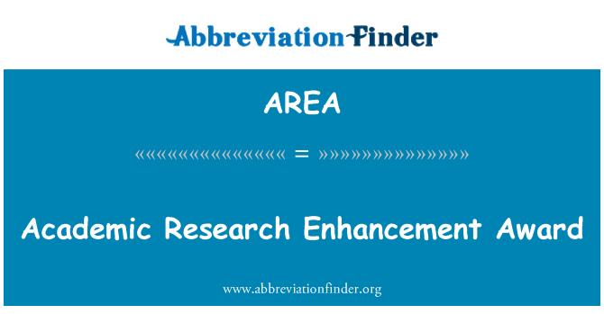 AREA: Premio de investigación académica del realce