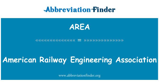 AREA: Asociación de ingeniería ferroviaria estadounidense