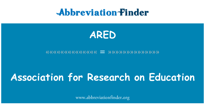 ARED: Association for Research on Education