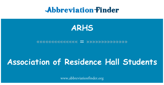 ARHS: Association of Residence Hall Students