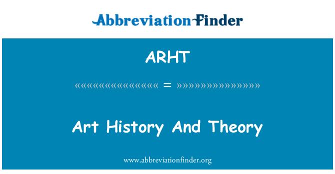 ARHT: Art History And Theory