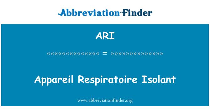 ARI: Appareil Respiratoire Isolant