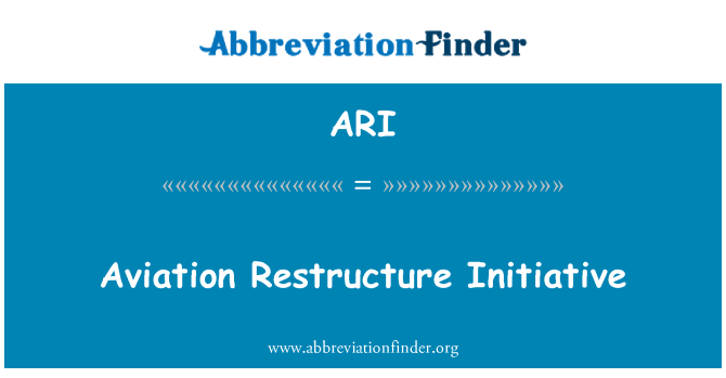 ARI: Aviation Restructure Initiative