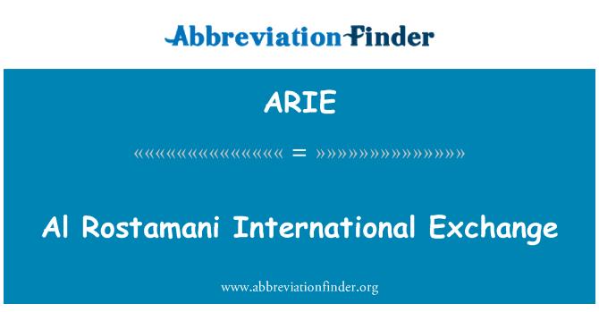 ARIE: Al Rostamani rahvusvahelisi teabevahetus
