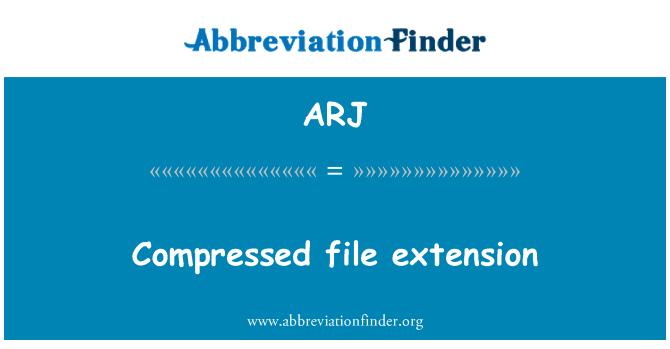 ARJ: Compressed file extension