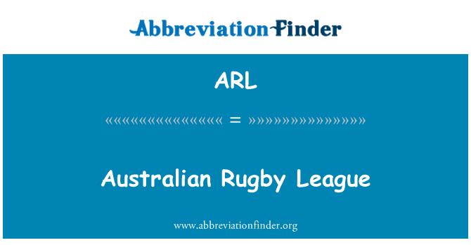 ARL: Australian Rugby League
