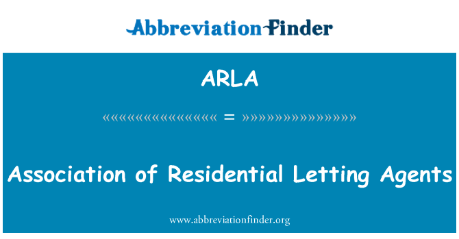 ARLA: Association of Residential Letting Agents