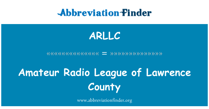 ARLLC: Amateur Radio League of Lawrence County