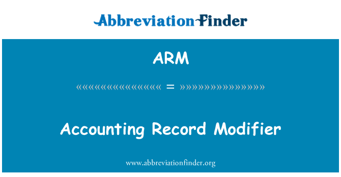 ARM: Accounting Record Modifier