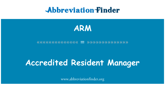 ARM: Accredited Resident Manager