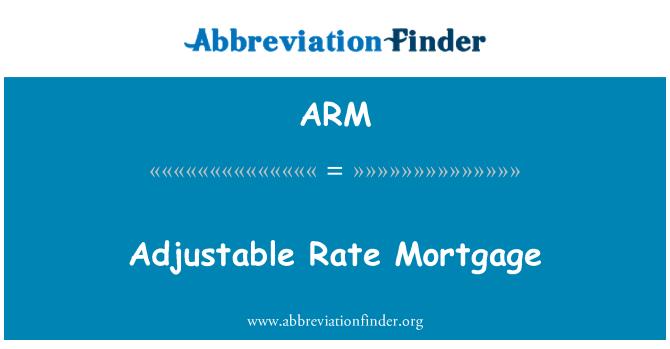 ARM: Adjustable Rate Mortgage