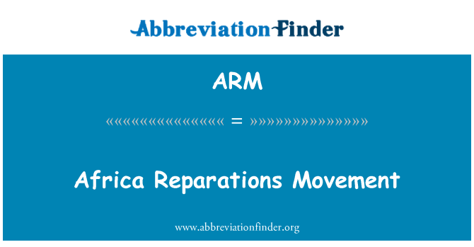 ARM: Africa Reparations Movement