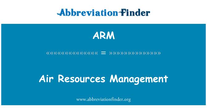 ARM: Air Resources Management