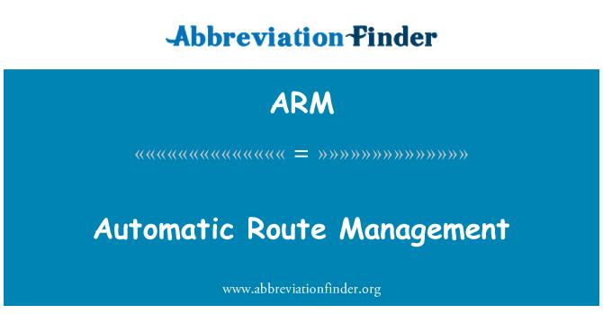 ARM: Automatic Route Management