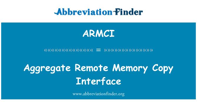 ARMCI: Aggregate Remote Memory Copy Interface