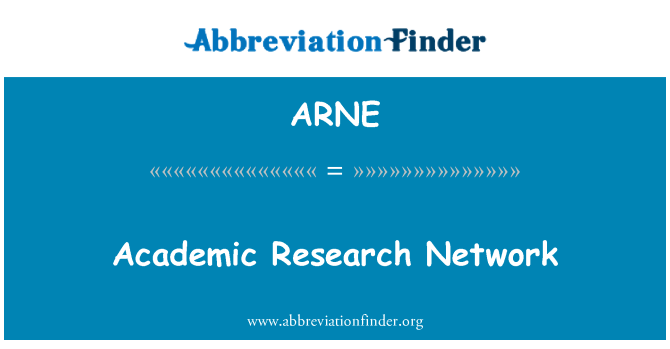 ARNE: Akademska istraživačka mreža